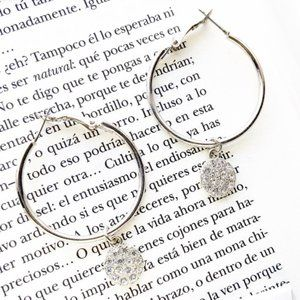 STATEMENT BOHO STYLE PAVE DROP HOOPS